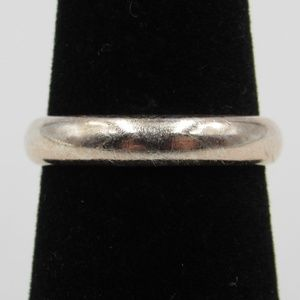 Vintage Size 6 Sterling Simple Rustic Ring